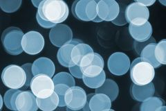 Blue Retro Lights Background, Party, Celebration Or Christmas Texture Royalty Free Stock Image
