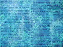 Blue Retro Literature Wallpaper. A background made of various textures, colors and patterns Stock Photos