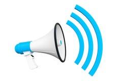 Blue Retro megaphone Stock Images