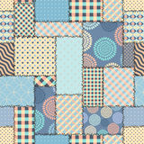 Blue retro patchwork Royalty Free Stock Image