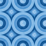 Blue retro pattern (circle) Royalty Free Stock Images