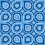 Blue Retro Pattern (leaf) Stock Photo
