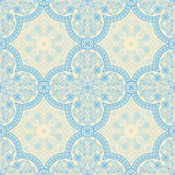 Blue retro pattern Stock Image