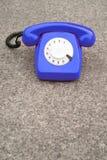 Blue retro phone Royalty Free Stock Image