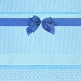 Blue retro polka dot textile Royalty Free Stock Photography