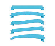 Blue retro ribbons Stock Photography