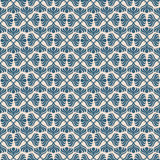 Blue retro seamless pattern Stock Photography