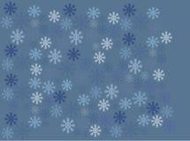 Blue retro snowflakes on blue background Stock Image
