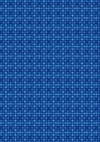 Blue retro square mosaic pattern Royalty Free Stock Images