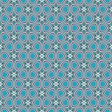 Blue retro star pattern Stock Images