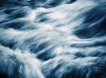 Blue retro style wild river Royalty Free Stock Photo