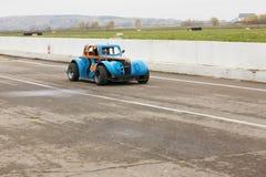 Blue retro styled car Stock Image