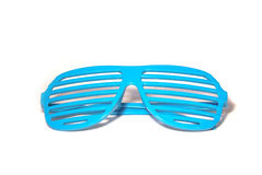 Blue Retro Sunglasses Royalty Free Stock Photos