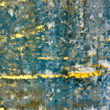 Blue retro texture with yellow cracks royalty free stock image