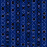 Blue Retro Vector Background. Groovy vector background texture - connected squares Stock Photography