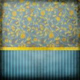 Blue retro wallpaper Stock Image