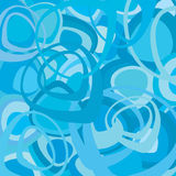 Blue retro wallpaper vector Stock Images