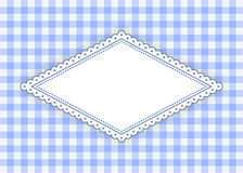 Blue rhombus label with dotted frame Royalty Free Stock Image