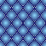 Blue rhombus seamless pattern - vector Royalty Free Stock Images