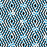 Blue rhythmic textured endless pattern, overlay continuous creat Royalty Free Stock Photo