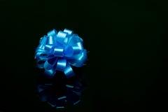 Blue Ribbin on black background Royalty Free Stock Image