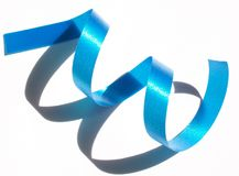 Blue ribbon. And shadow, Italy royalty free stock photography