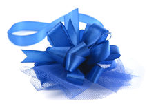 Blue ribbon. Isolated Stock Photos