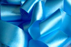 Blue Ribbon. Abstract royalty free stock photography