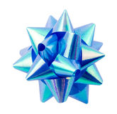 Blue ribbon. On a white background Royalty Free Stock Photography