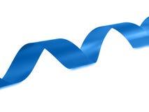 Blue Ribbon. Isolated on white background Royalty Free Stock Images