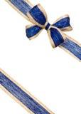 BLUE RIBBON. On white background royalty free stock photos