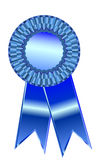 Blue ribbon. Blue prize ribbon for winner. eps8 vector included. Add your own text stock illustration