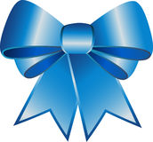 Blue ribbon. Islolated on white in vectors Royalty Free Stock Photo