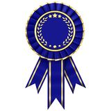 Blue Ribbon Award Stock Image
