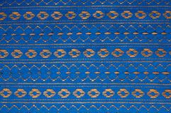 Blue ribbon background. Blue ribbon with ornament background Royalty Free Stock Photo