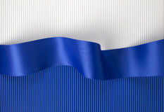 Blue ribbon banner Royalty Free Stock Image