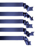 Blue ribbon banner collection. Elegance blue ribbon banner collection Stock Photo