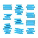 Blue ribbon banners Stock Photo