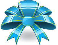 Blue ribbon bant Royalty Free Stock Photo