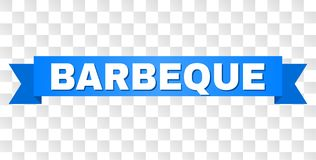 Blue Ribbon with BARBEQUE Text stock illustration