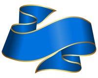 Blue ribbon. Big blue ribbon isolated on white background Stock Images