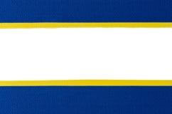Blue ribbon border Stock Images