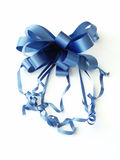 Blue ribbon bow stock image
