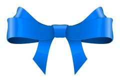 Free Blue Ribbon Bow Royalty Free Stock Image - 134297066