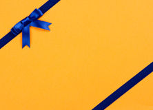 Blue ribbon bow Royalty Free Stock Images