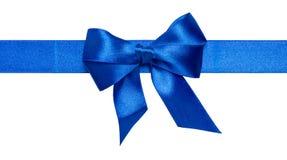 Blue ribbon bow Royalty Free Stock Photo