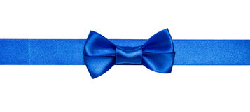 Blue ribbon bow Royalty Free Stock Photos