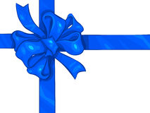 Blue Ribbon Bow Royalty Free Stock Photo