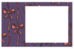 Blue ribbon and bow border Stock Photo