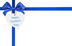 blue ribbon bow Stock Image